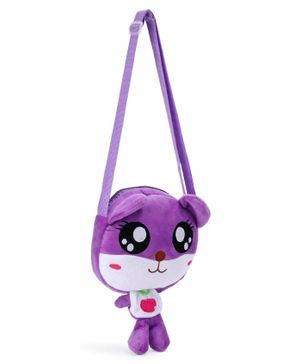 Cartoon Shape Sling Bag - Purple