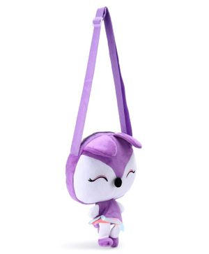 Cartoon Shape Sling Bag - Light Purple