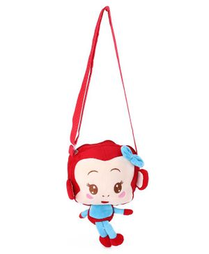 Cartoon Shape Sling Bag - Red Cream