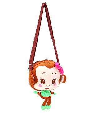 Cartoon Shape Sling Bag - Brown