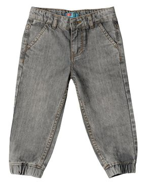 Kid Studio Front Pocket Full Length Jeans - Light Grey