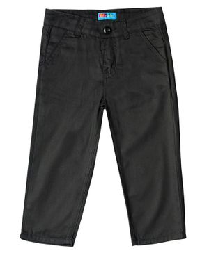 Kid Studio Front Pocket Full Length Trousers - Black