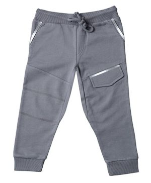 Kid Studio Front Pocket Full Length Pants - Grey