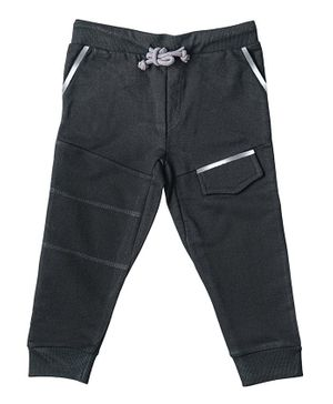 Kid Studio Front Pocket Full Length Pants - Black