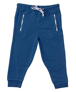 Kid Studio Front Pocket Full Length Pants - Navy Blue