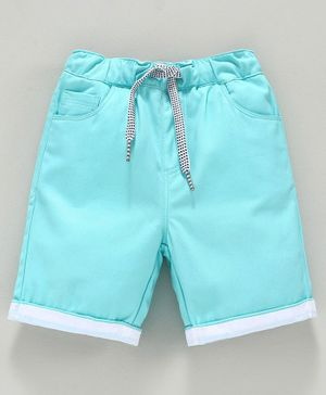 Babyoye Cotton Drawstring Waist Capri - Blue