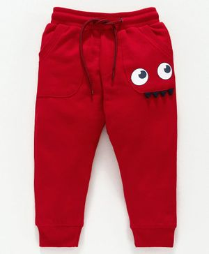 Babyoye Full Length Track Pant - Red