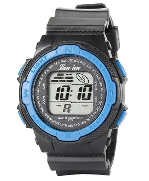 Skylofts Sports Digital Watch With 7 Color LED Lights - Blue Black