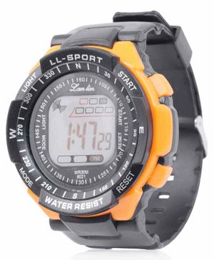 Skylofts Sports Digital Watch With 7 Color LED Lights - Yellow Black