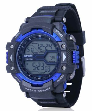 Skylofts Digital Watch With 7 Color Lights - Blue