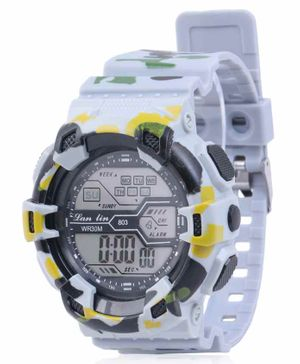 Skylofts Digital Watch With 7 Color Lights - White
