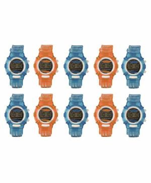 Skylofts LED Sports Digital Watch Pack of 10 - Multicolor