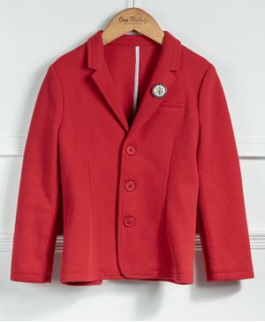 One Friday Full Sleeves Solid Blazer - Red