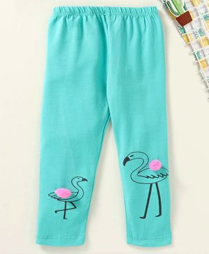 Babyhug Ankle Length Leggings Flamingo Print - Blue
