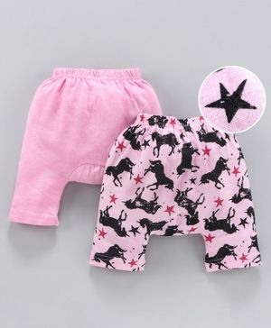 Earth Conscious Pack Of 2 Horse Printed Diaper Pant - Pink