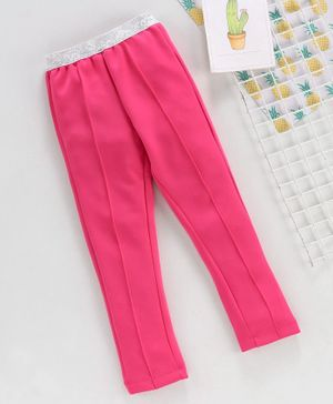 Babyhug Full Length Jeggings - Fuchsia