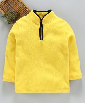 Hugsntugs Solid Full Sleeves Winter Tee - Yellow