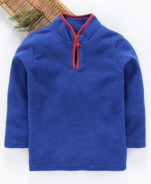 Hugsntugs Solid Full Sleeves Winter Tee - Blue