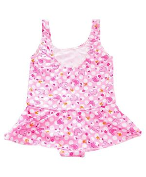 Syga Sleeveless Swimsuit Allover Print - (Print & Color May Vary)