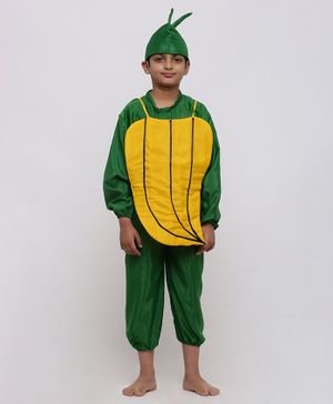 Chipbeys Fancy Dress Full Sleeves Banana Themed Costume - Green & Yellow