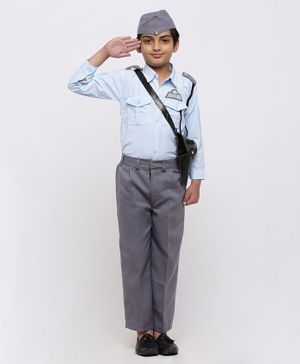 Chipbeys Navy Full Sleeves Fancy Dress Costume With Cap - Blue