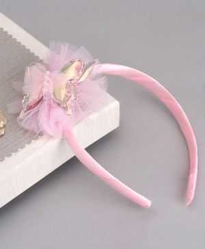 Babyhug Hair Band Butterfly Applique - Pink