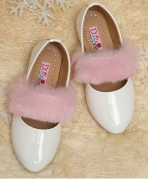 D'chica Fur Detailing Bellies - White & Pink