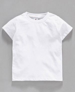 Ollypop Half Sleeves Solid Colour Tee - White
