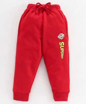 Eteenz Track Pant Text Print - Red