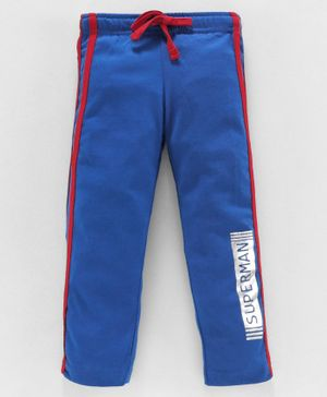 Eteenz Full Length Track Pant Superman Print - Royal Blue