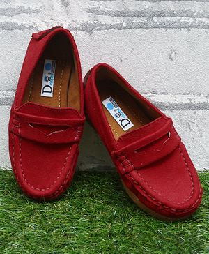 D'chica Bro Solid Wear Loafers - Red