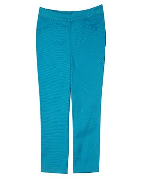 One Friday Full Length Solid Trousers - Blue
