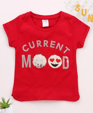 Smarty Short Sleeves Tee Current Mood Print - Red