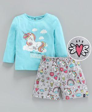 Girls Baby Gap Cat Beach Sunglasses Shorts Pajamas Set NWT 18-24 Months