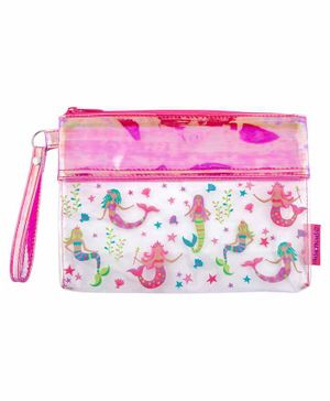 Stephen Joseph Clear Pouch Mermaid Design - Pink