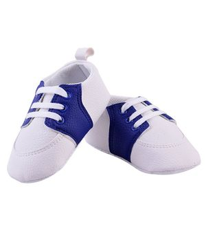 Little Hip Boutique Dual Color Sneaker Style Booties - Blue & White