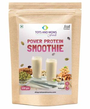 Tots and Moms Foods Power Protein Smoothie Powder - 100 gm