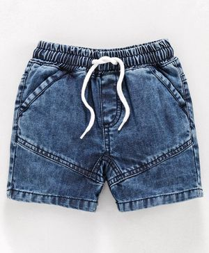 Babyoye Elasticated Waist Denim Shorts - Blue