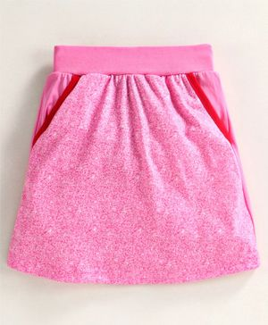 Game Begins Skirt with Elasticated Waist - Pink