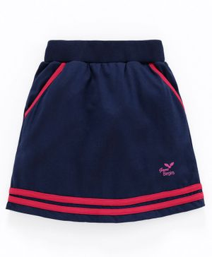 Game Begins Skirt with Elasticated Waist - Navy