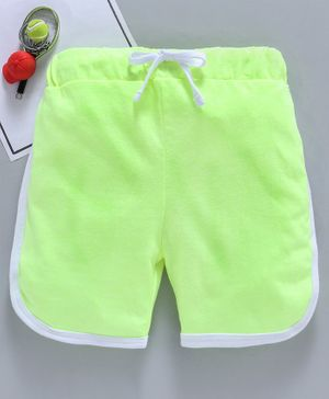 SWANKY ME Solid Drawstring Shorts - Green