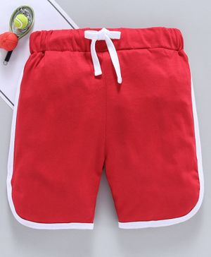 SWANKY ME Solid Drawstring Shorts - Red