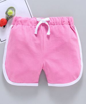 SWANKY ME Solid Drawstring Shorts - Pink