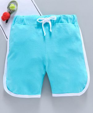SWANKY ME Solid Drawstring Shorts - Light Blue