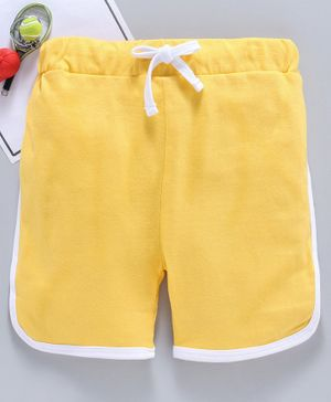 SWANKY ME Solid Drawstring Shorts - Yellow