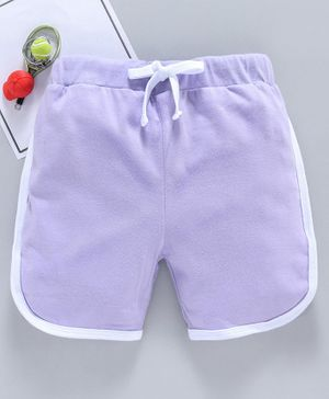 SWANKY ME Solid Drawstring Shorts - Light Purple