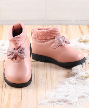 KIDLINGSS Shimmer Finish Bow Detailed Shoes - Pink