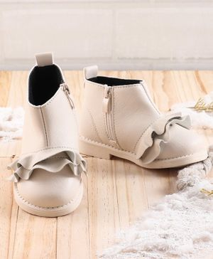 KIDLINGSS Ruffled Ankle Shoes - White