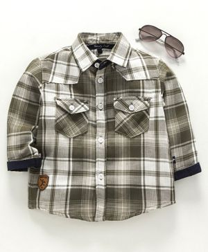 Trendy Cart Full Sleeves Checked Shirt - Green