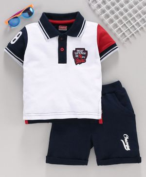 NWT GENUINE DISNEY TODDLER Short Set MICKEY MOUSE SURF RIDER Red Polo FREE SHIP